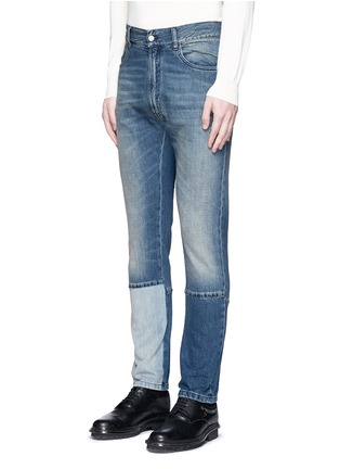 Front View - Click To Enlarge - Maison Margiela - Slim fit vintage wash panelled jeans