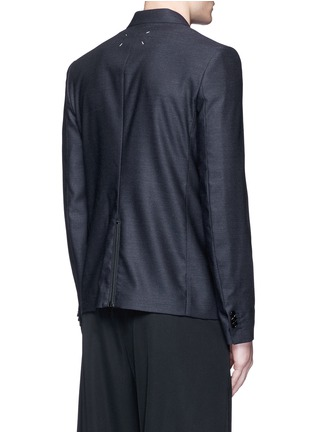 Back View - Click To Enlarge - Maison Margiela - Patch pocket wool blazer
