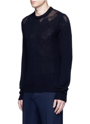 Front View - Click To Enlarge - Maison Margiela - Wool mixed gauge knit sweater