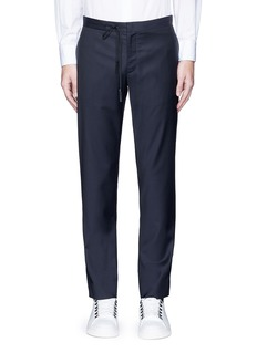 Maison Margiela Topstitch outseam new wool jogging pants