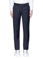 Topstitch outseam new wool jogging pants