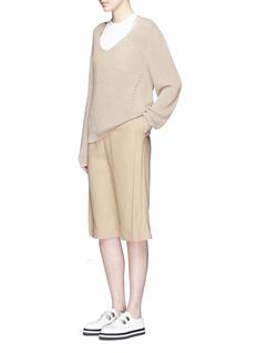 ACNE STUDIOS'Caryn' foldover pleat crepe shorts