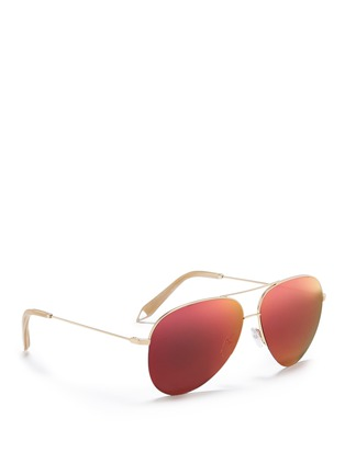 Figure View - Click To Enlarge - Victoria Beckham - 'Classic Victoria' mirror aviator sunglasses