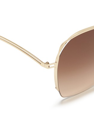 Detail View - Click To Enlarge - Victoria Beckham - 'Fine Wave' cutout temple metal sunglasses
