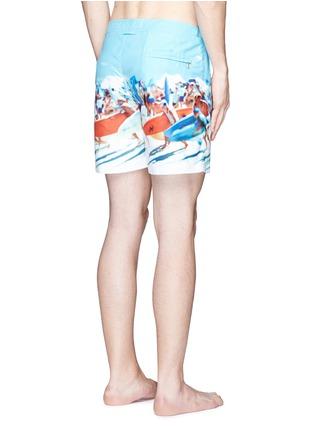 Back View - Click To Enlarge - Orlebar Brown - 'Bulldog Hulton Getty' beach print swim shorts