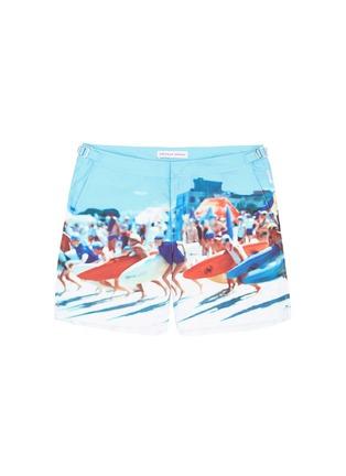 Main View - Click To Enlarge - Orlebar Brown - 'Bulldog Hulton Getty' beach print swim shorts