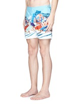 'Bulldog Hulton Getty' beach print swim shorts