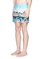 'Bulldog Hulton Getty' pool print swim shorts