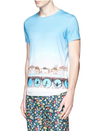 Front View - Click To Enlarge - Orlebar Brown - 'OB-T Hulton Getty' pool print T-shirt