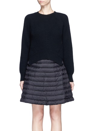 Main View - Click To Enlarge - Moncler - 'Abito' wool-cashmere padded down sweater dress