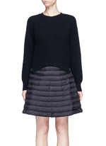 'Abito' wool-cashmere padded down sweater dress