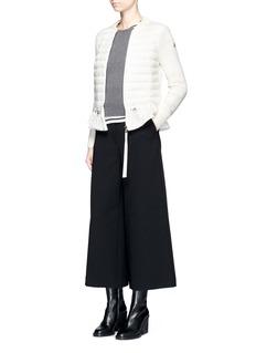 MONCLER 针织羊毛拼接羽绒外套
