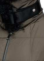 Fur trim hooded down jacket