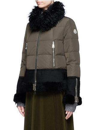 Front View - Click To Enlarge - Moncler - Fur trim hooded down jacket