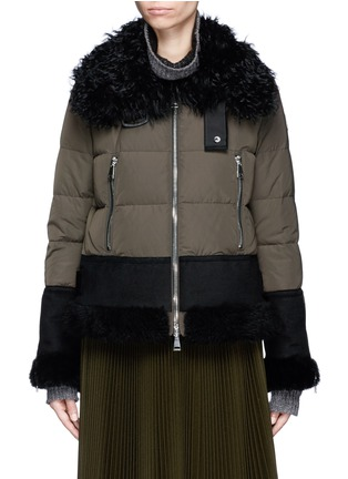 Main View - Click To Enlarge - Moncler - Fur trim hooded down jacket