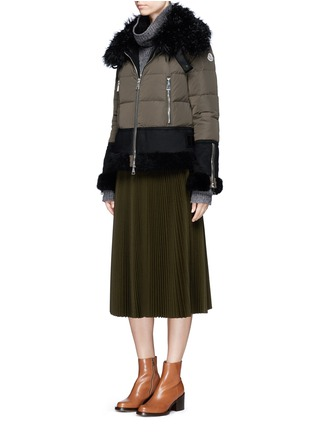Figure View - Click To Enlarge - Moncler - Fur trim hooded down jacket