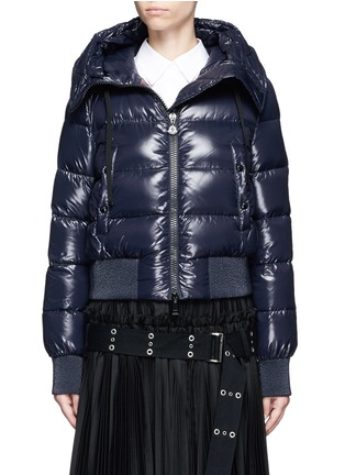Main View - Click To Enlarge - Moncler - 'Sotiria' cropped puffer down jacket