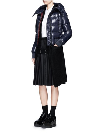 Figure View - Click To Enlarge - Moncler - 'Sotiria' cropped puffer down jacket
