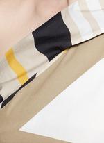 Variegated stripe ribbon tie poplin top