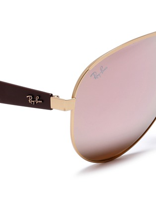 Detail View - Click To Enlarge - Ray-Ban - 'RB3523' metal aviator mirror sunglasses