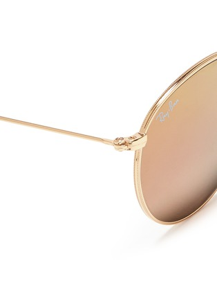 Detail View - Click To Enlarge - Ray-Ban - 'Round Folding Flash' mirror sunglasses