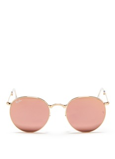 Ray-Ban 'Round Folding Flash' mirror sunglasses
