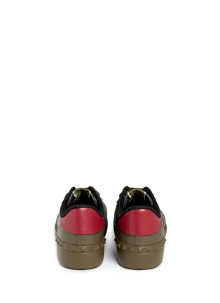 Back View - Click To Enlarge - Valentino - Camouflage print leather canvas sneakers