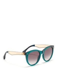 TOMS'Margeaux' round D-frame translucent acetate sunglasses