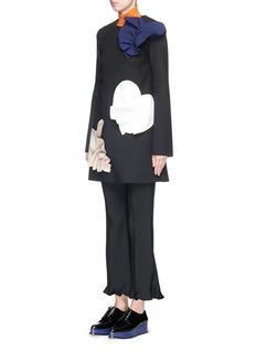 MSGMPetal appliqué patchwork double crepe dress