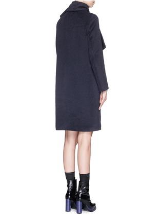 Back View - Click To Enlarge - MSGM - Brushed wool felt sash panel coat