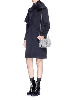 MSGMBrushed wool felt sash panel coat