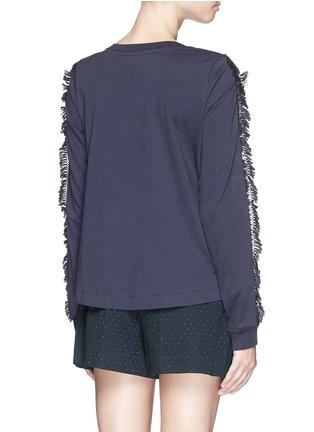 背面 - 点击放大 - SEE BY CHLOÉ - Guipure lace sleeve tassel cotton T-shirt