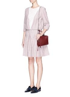 SEE BY CHLOÉStripe woven cotton blouson dress