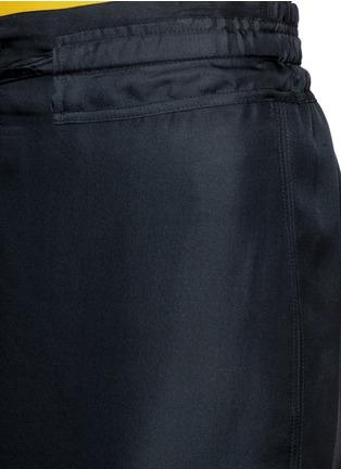 Detail View - Click To Enlarge - rag & bone - 'Cove' drawstring waist silk faille skirt