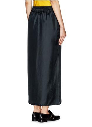 Back View - Click To Enlarge - rag & bone - 'Cove' drawstring waist silk faille skirt