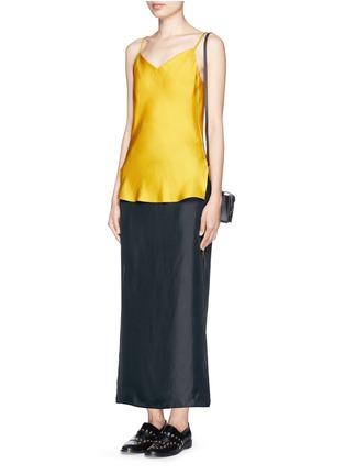 Figure View - Click To Enlarge - rag & bone - 'Cove' drawstring waist silk faille skirt