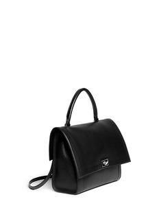 GIVENCHY'Shark' medium turn lock flap leather bag