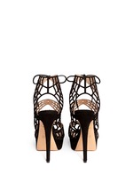'Caught in Charlotte's Web' suede caged sandals