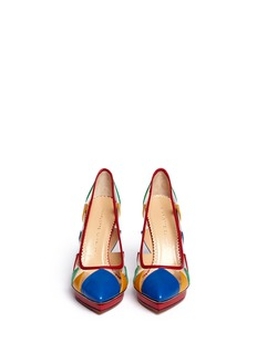 CHARLOTTE OLYMPIA 'Ana Maria' leather patchwork clear PVC pumps