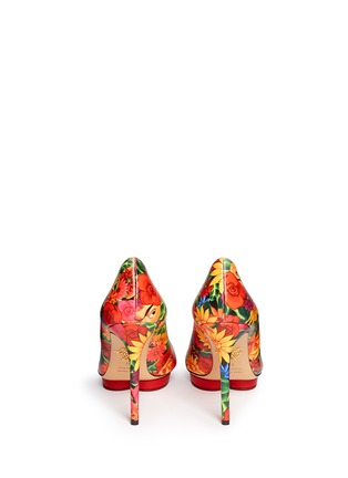 Back View - Click To Enlarge - Charlotte Olympia - 'Debbie' Frida flower print leather pumps