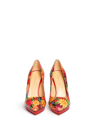 Figure View - Click To Enlarge - Charlotte Olympia - 'Debbie' Frida flower print leather pumps