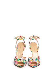 CHARLOTTE OLYMPIA'Sophia' skull charm floral print sandals