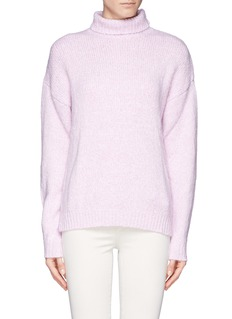 MS MIN Teddy knit turtleneck sweater