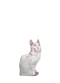 SILKEN FAVOURS'Cecilia The Cat' silk cushion
