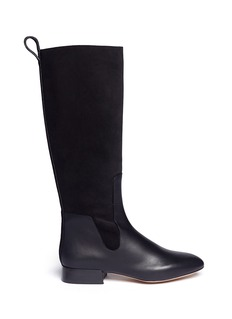 CHLOÉ Leather and suede knee boots
