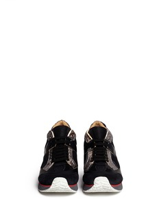 MM6 MAISON MARTIN MARGIELAMetallic trim mesh sneakers