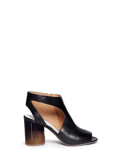 MAISON MARTIN MARGIELAOmbré round heel leather sandals