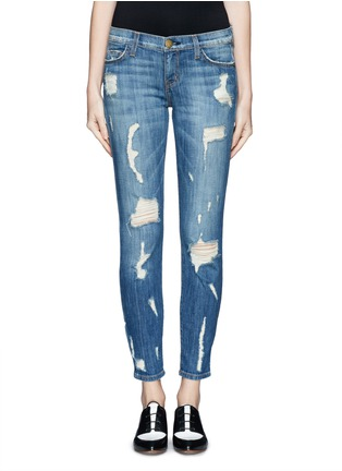 Main View - Click To Enlarge - Current/Elliott - 'The Stiletto' distressed jeans
