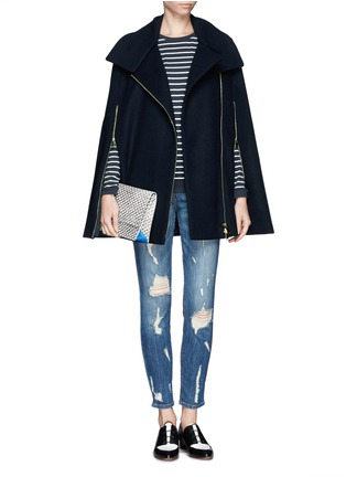 Figure View - Click To Enlarge - Current/Elliott - 'The Stiletto' distressed jeans