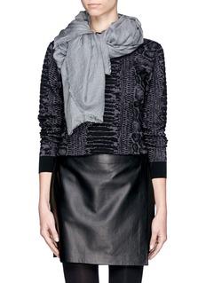FALIERO SARTI'Gerbera' frayed scarf